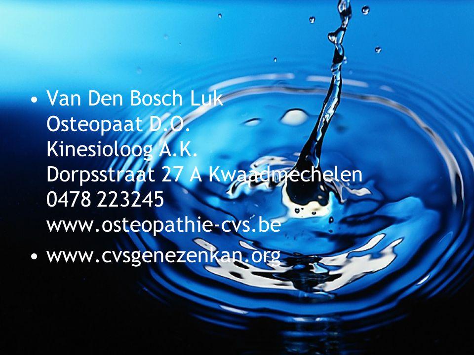 Van Den Bosch Luk Osteopaat D. O. Kinesioloog A. K
