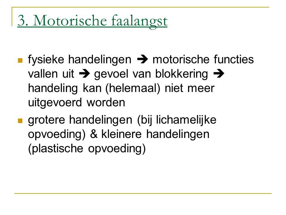 3. Motorische faalangst