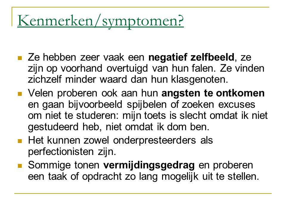 Kenmerken/symptomen