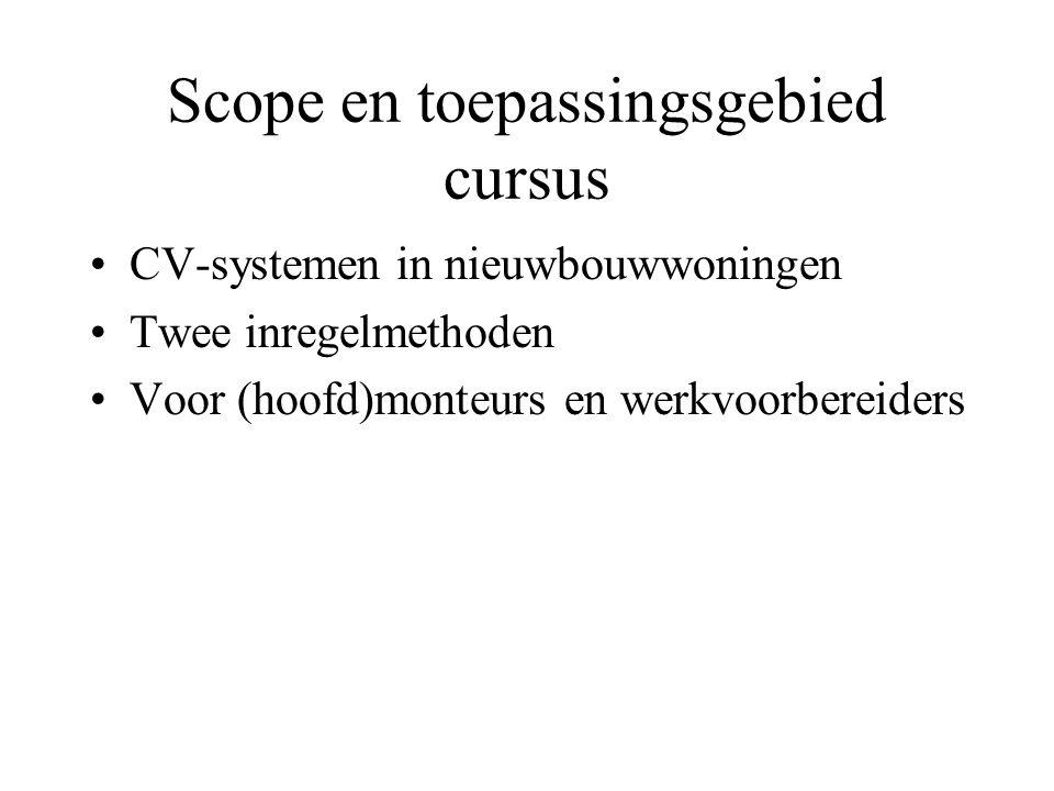 Scope en toepassingsgebied cursus