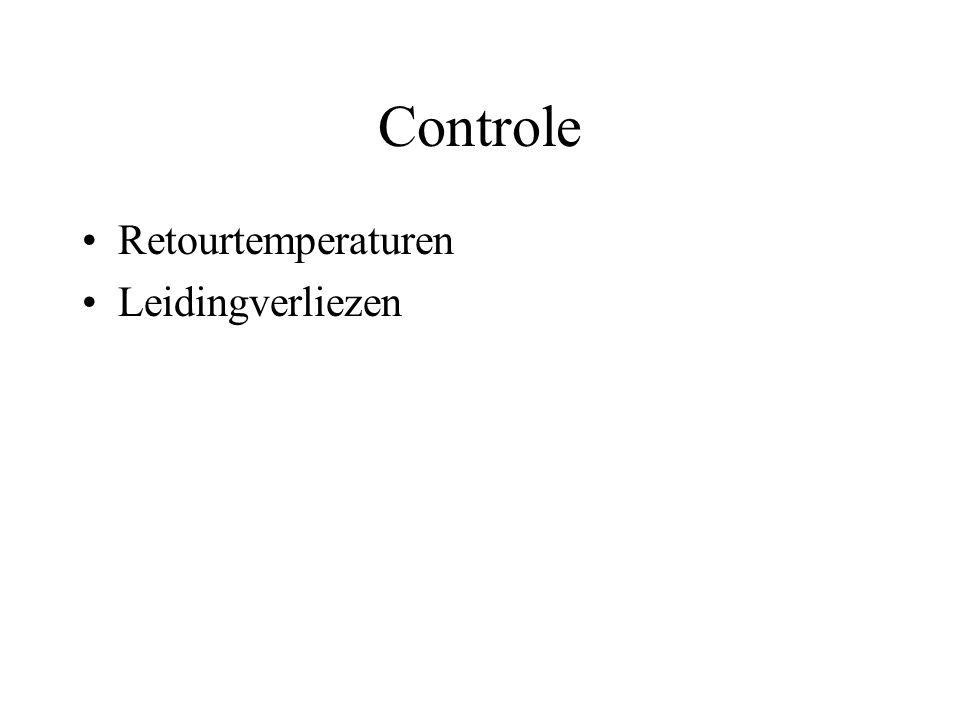 Controle Retourtemperaturen Leidingverliezen