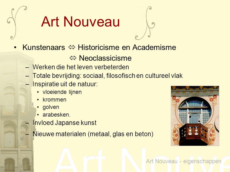 Art Nouveau Kunstenaars  Historicisme en Academisme  Neoclassicisme
