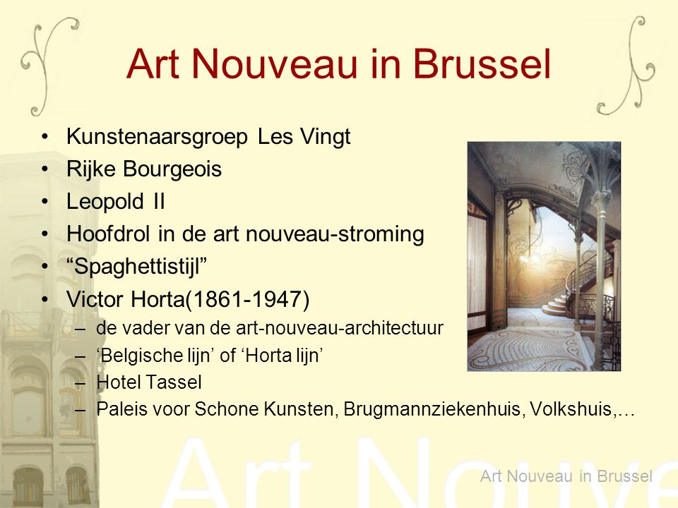 Art Nouveau in Brussel Kunstenaarsgroep Les Vingt Rijke Bourgeois