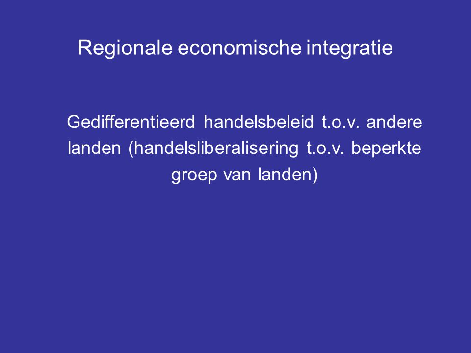 Regionale economische integratie