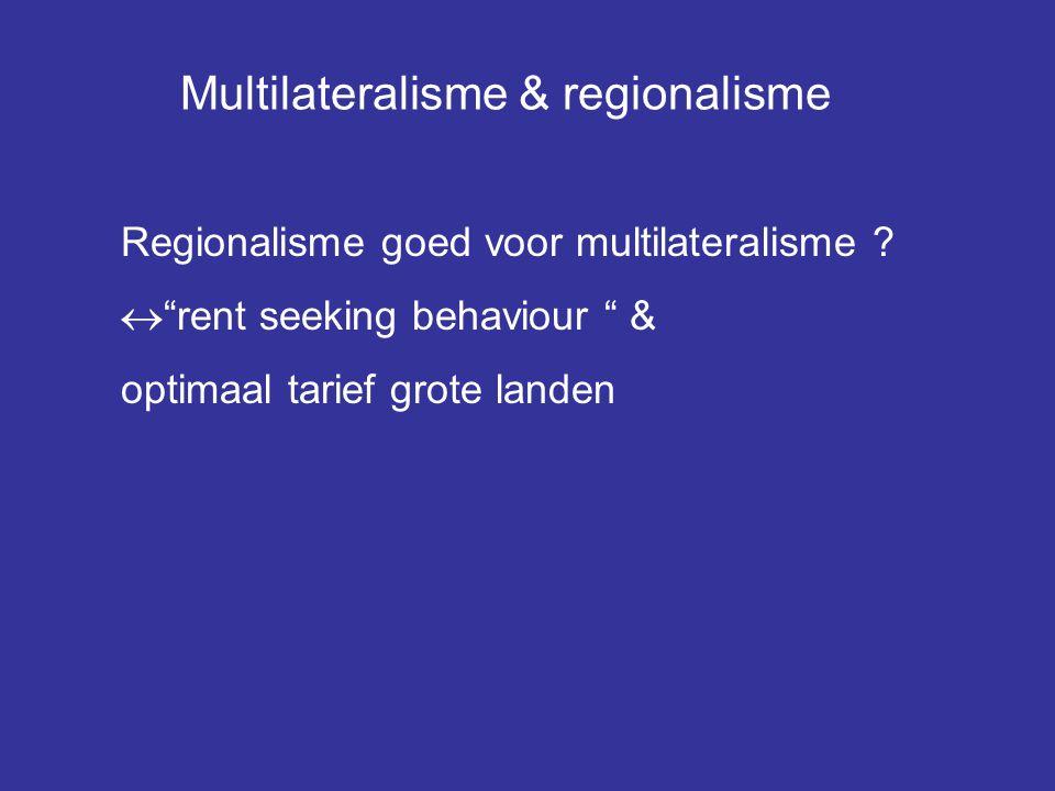 Multilateralisme & regionalisme
