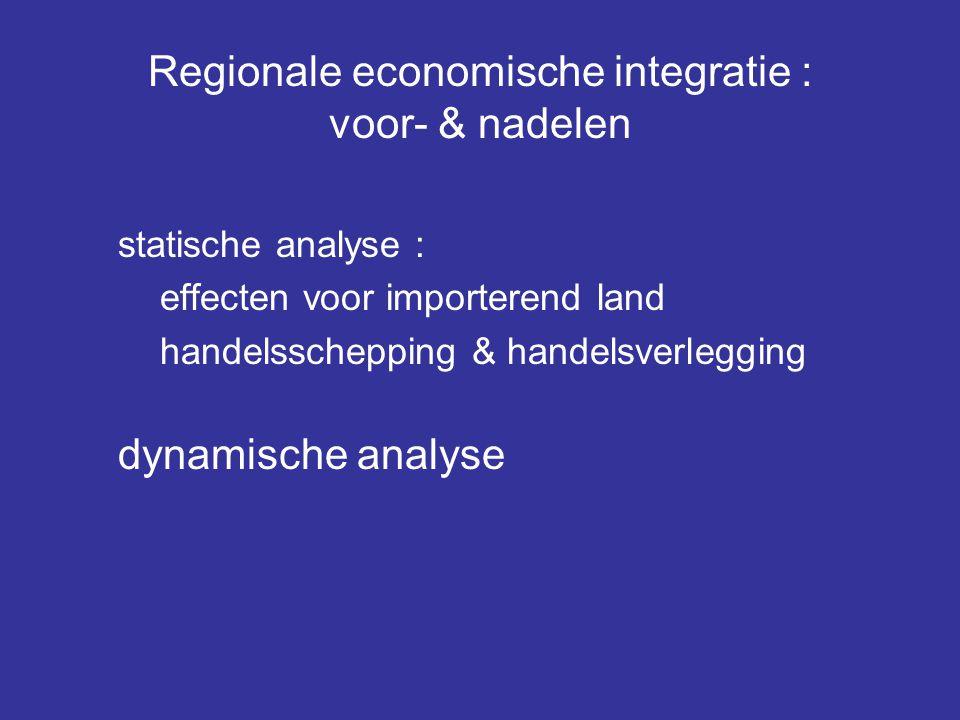 Regionale economische integratie : voor- & nadelen