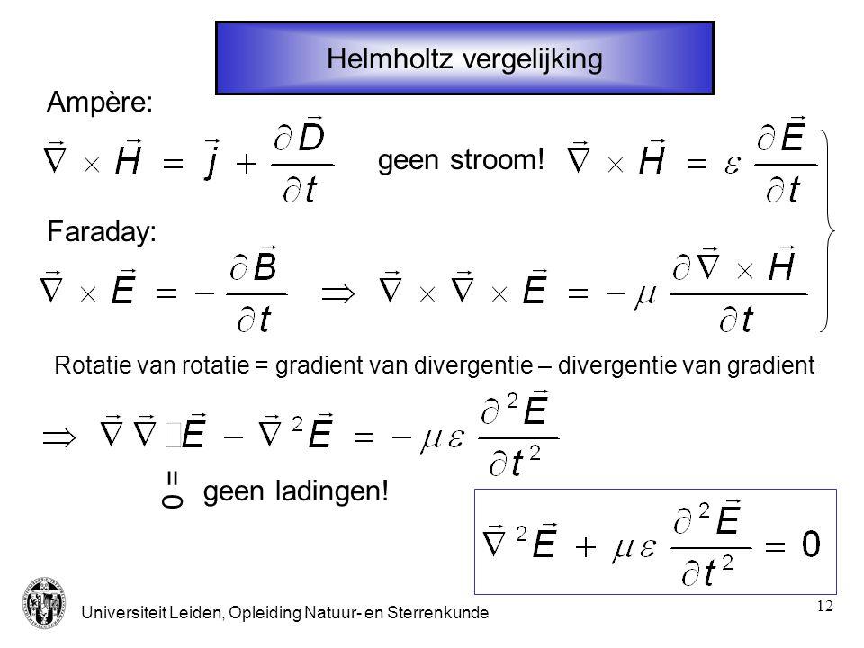 Helmholtz vergelijking