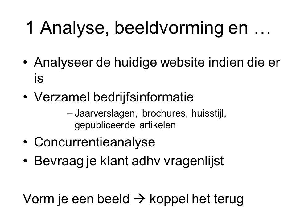 1 Analyse, beeldvorming en …
