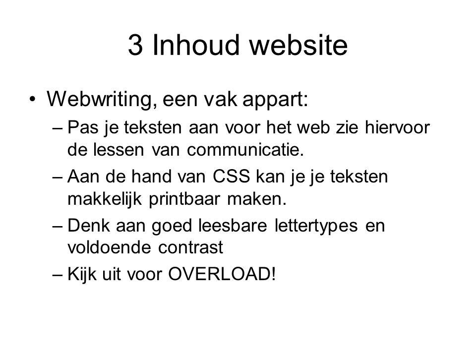 3 Inhoud website Webwriting, een vak appart: