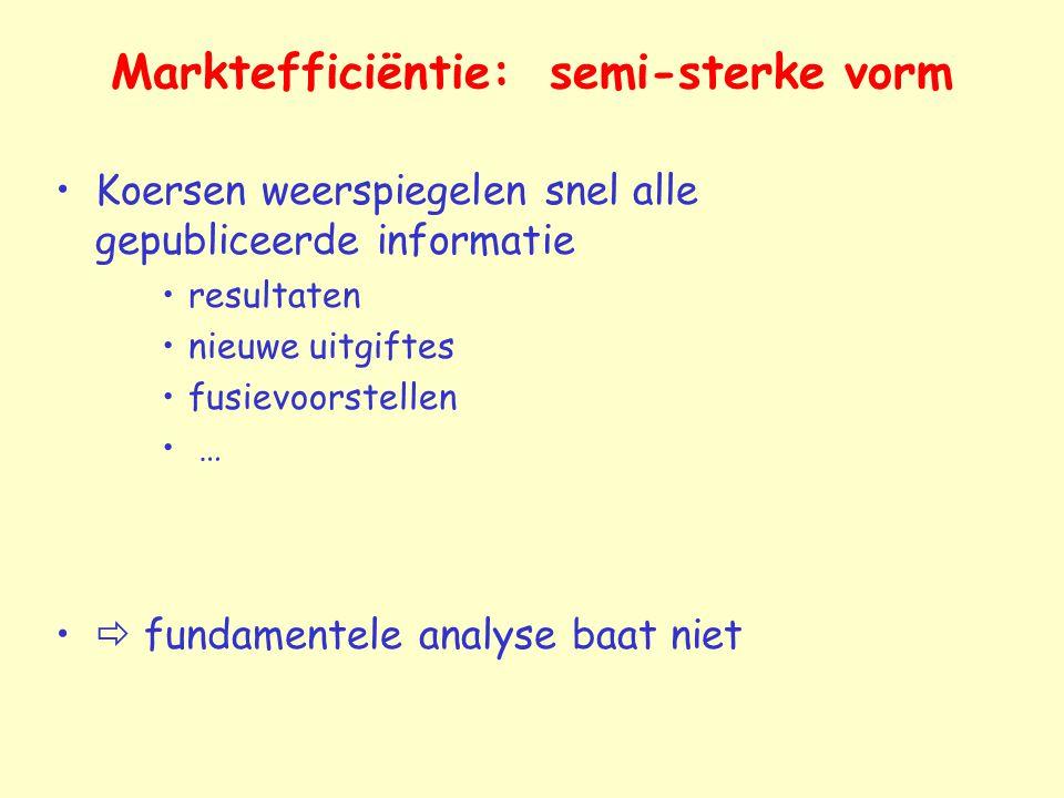 Marktefficiëntie: semi-sterke vorm