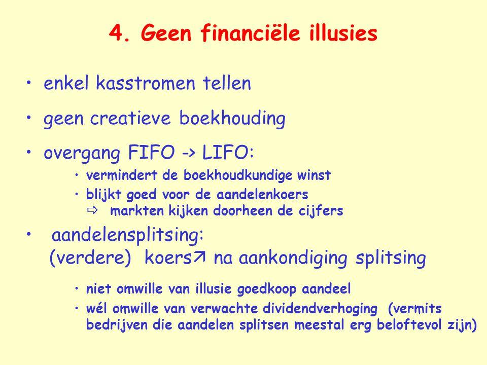 4. Geen financiële illusies