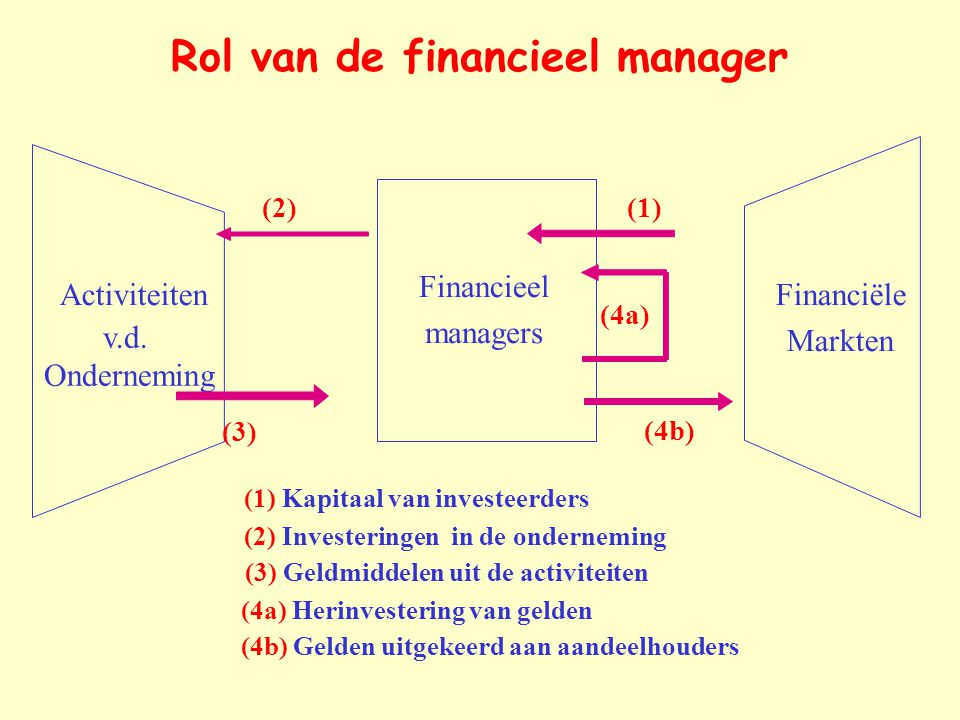 Rol van de financieel manager