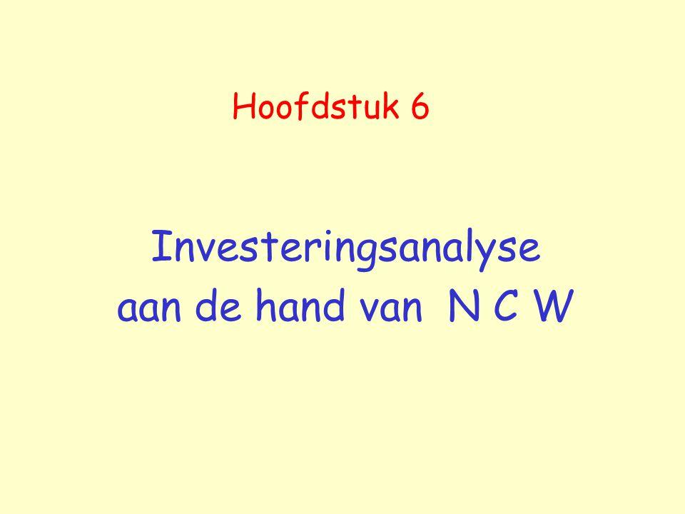 Investeringsanalyse aan de hand van N C W