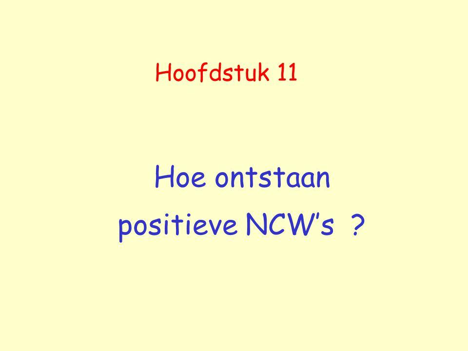 Hoe ontstaan positieve NCW's