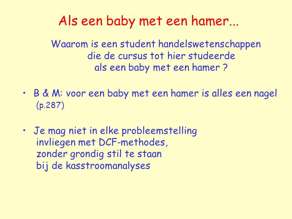 Als een baby met een hamer...