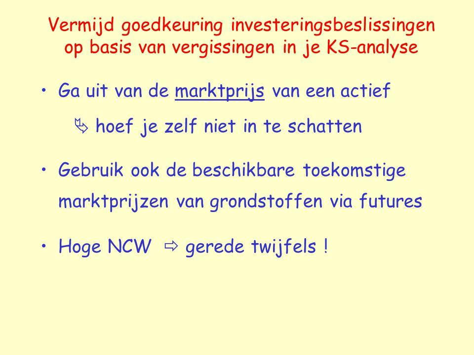 Vermijd goedkeuring investeringsbeslissingen op basis van vergissingen in je KS-analyse