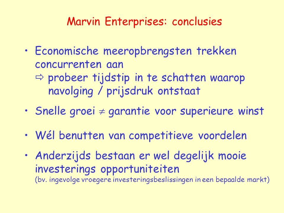 Marvin Enterprises: conclusies