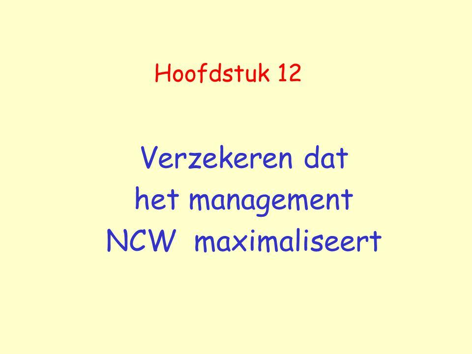 Verzekeren dat het management NCW maximaliseert