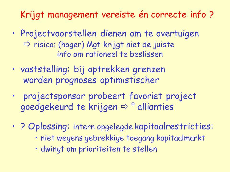 Krijgt management vereiste én correcte info