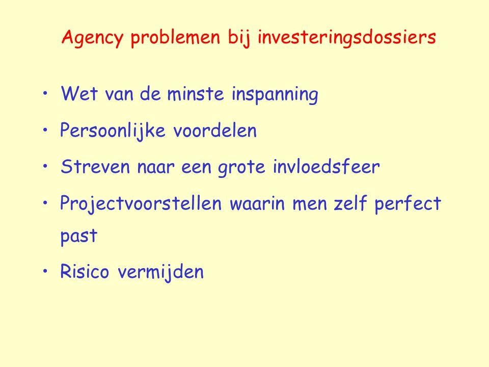 Agency problemen bij investeringsdossiers
