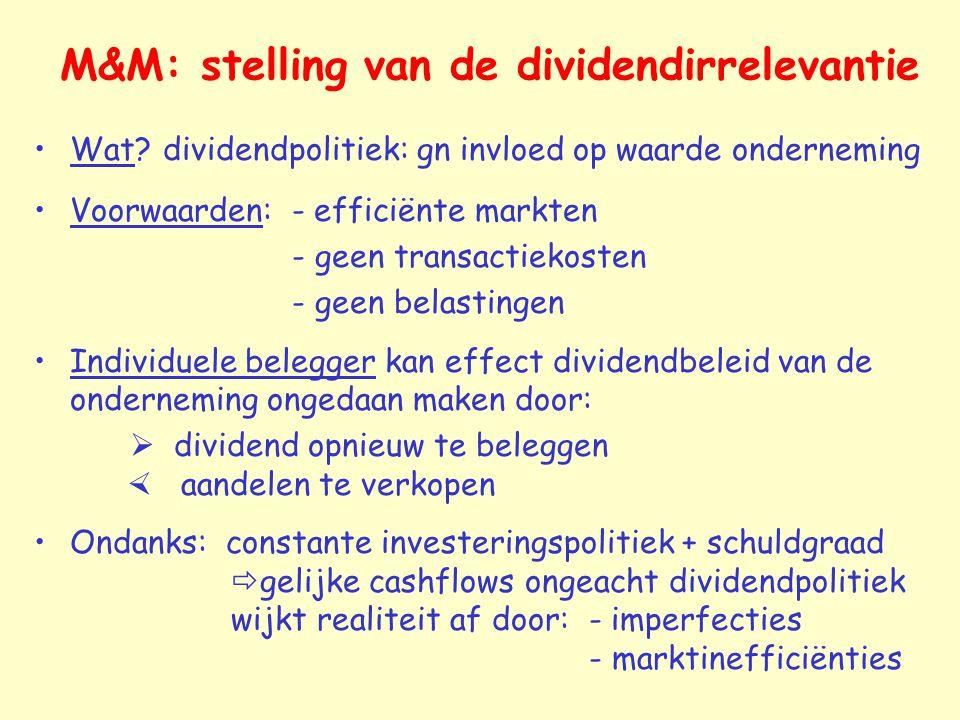 M&M: stelling van de dividendirrelevantie