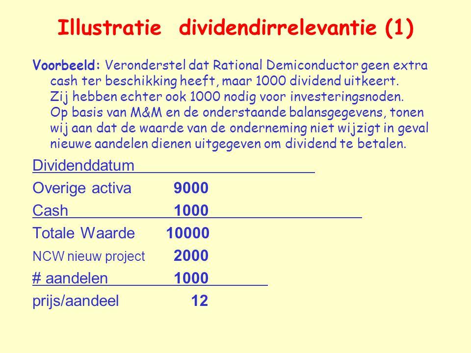 Illustratie dividendirrelevantie (1)
