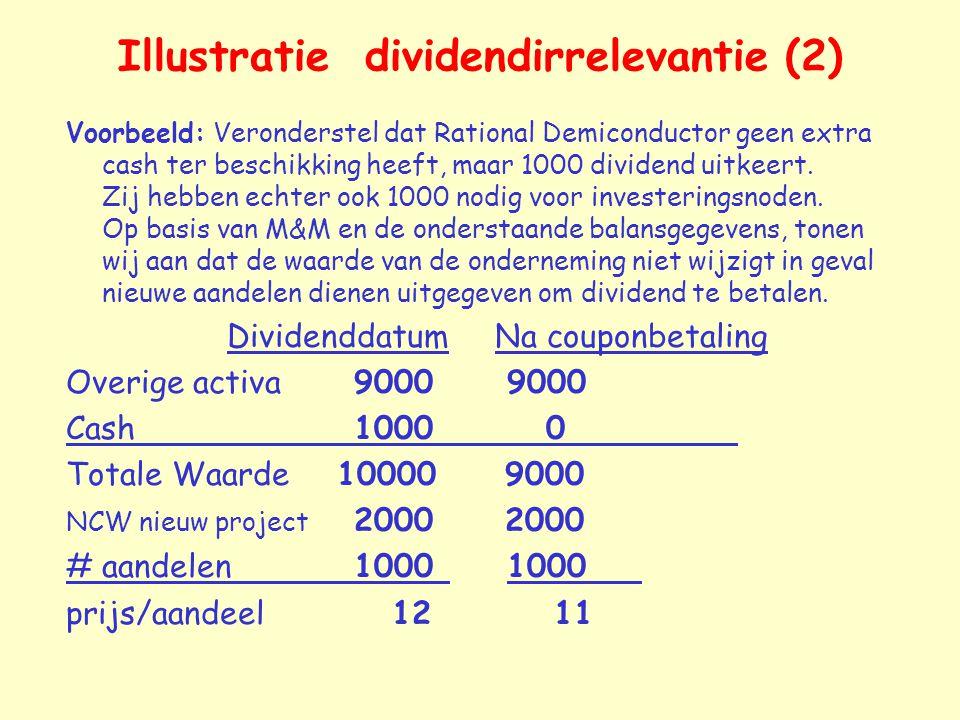 Illustratie dividendirrelevantie (2)