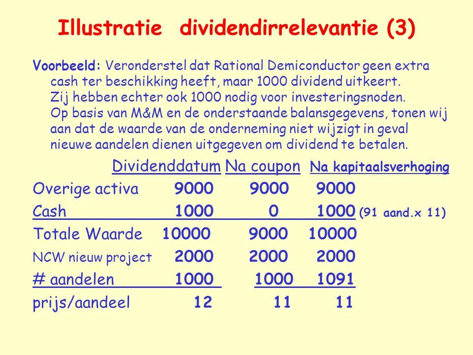 Illustratie dividendirrelevantie (3)