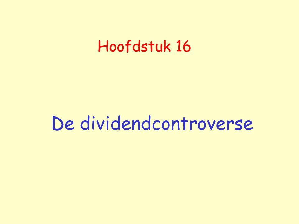 De dividendcontroverse