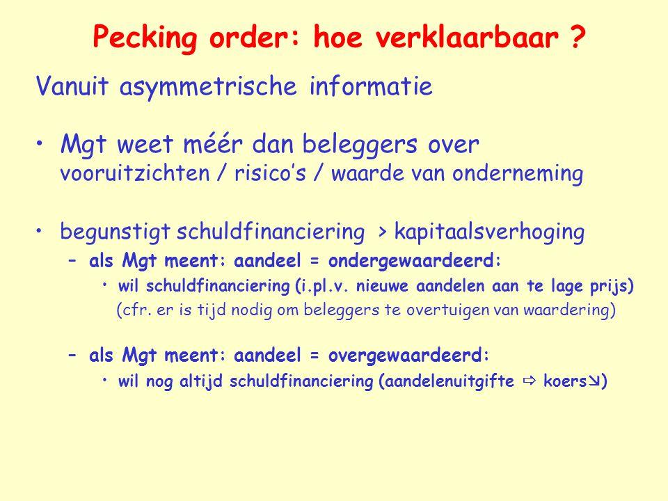 Pecking order: hoe verklaarbaar