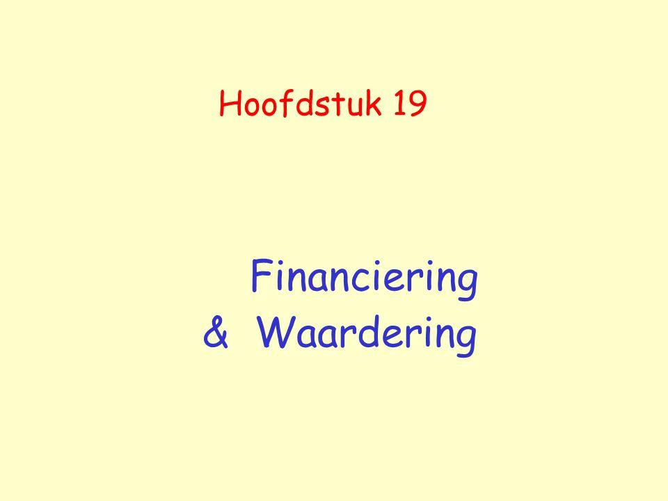 Financiering & Waardering