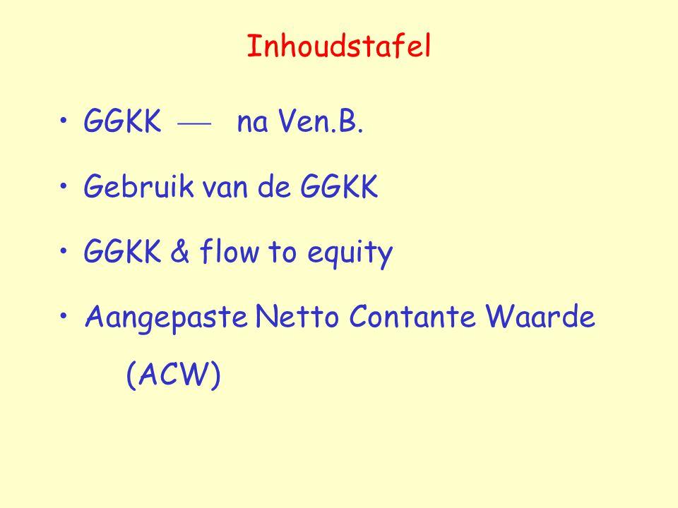 Inhoudstafel GGKK  na Ven.B. Gebruik van de GGKK.