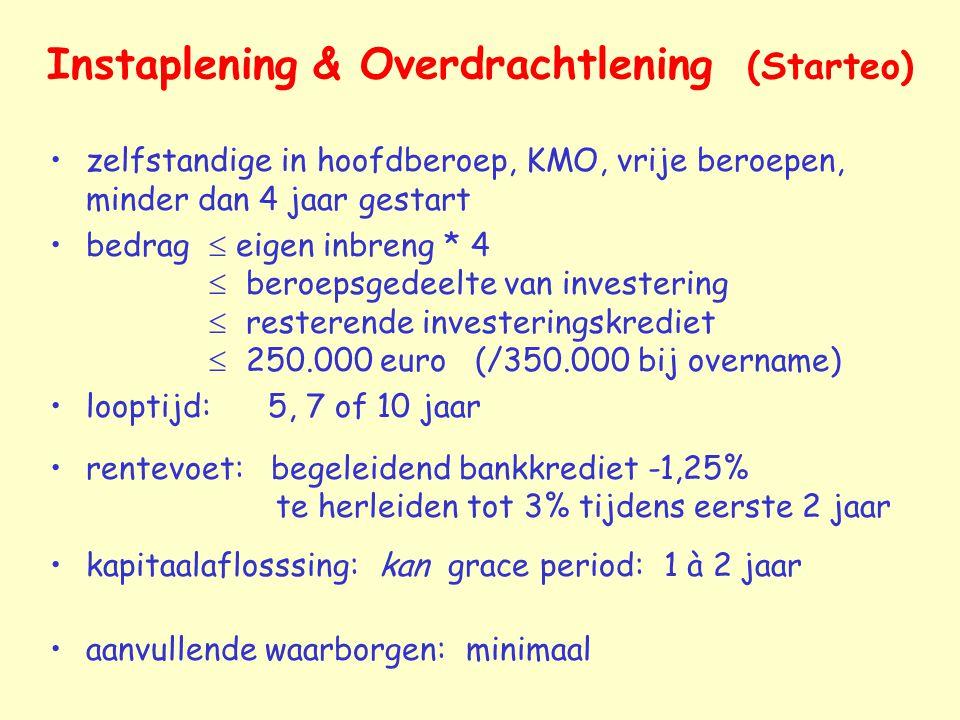 Instaplening & Overdrachtlening (Starteo)