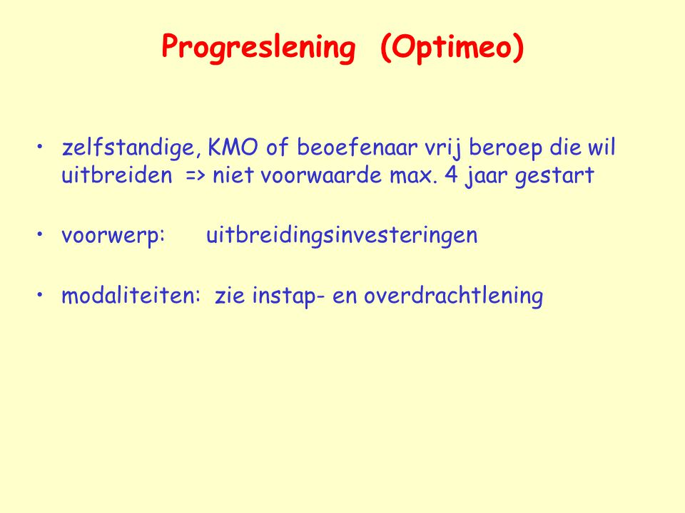 Progreslening (Optimeo)