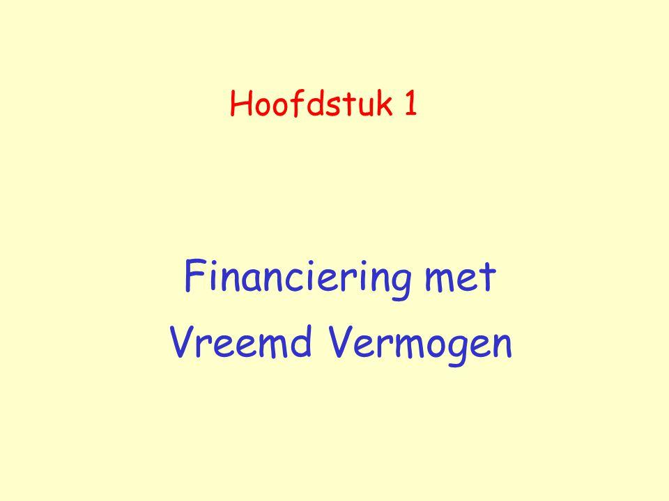 Financiering met Vreemd Vermogen