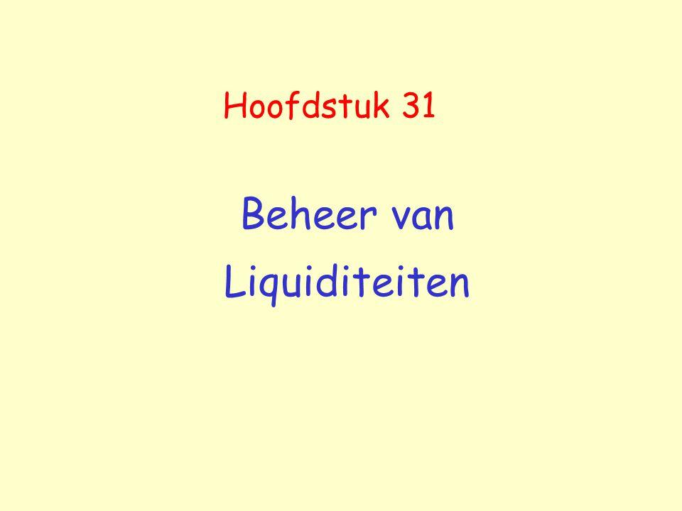 Beheer van Liquiditeiten