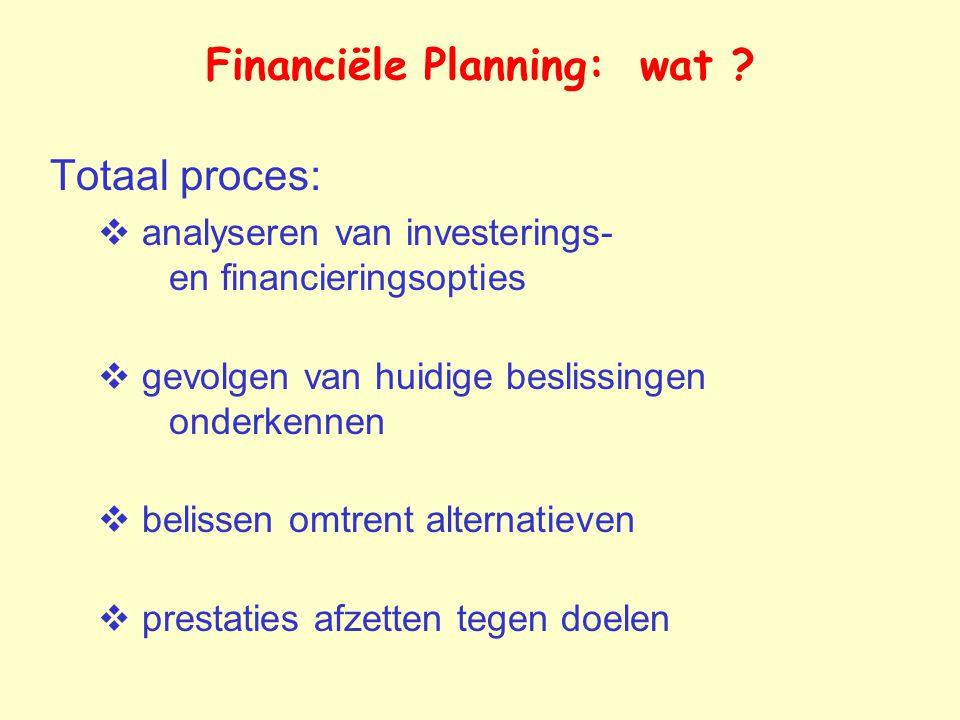 Financiële Planning: wat