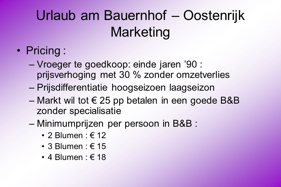 Urlaub am Bauernhof – Oostenrijk Marketing