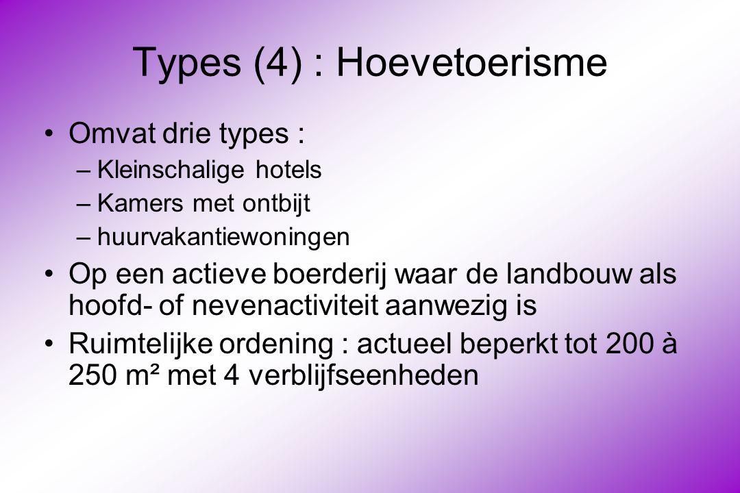Types (4) : Hoevetoerisme