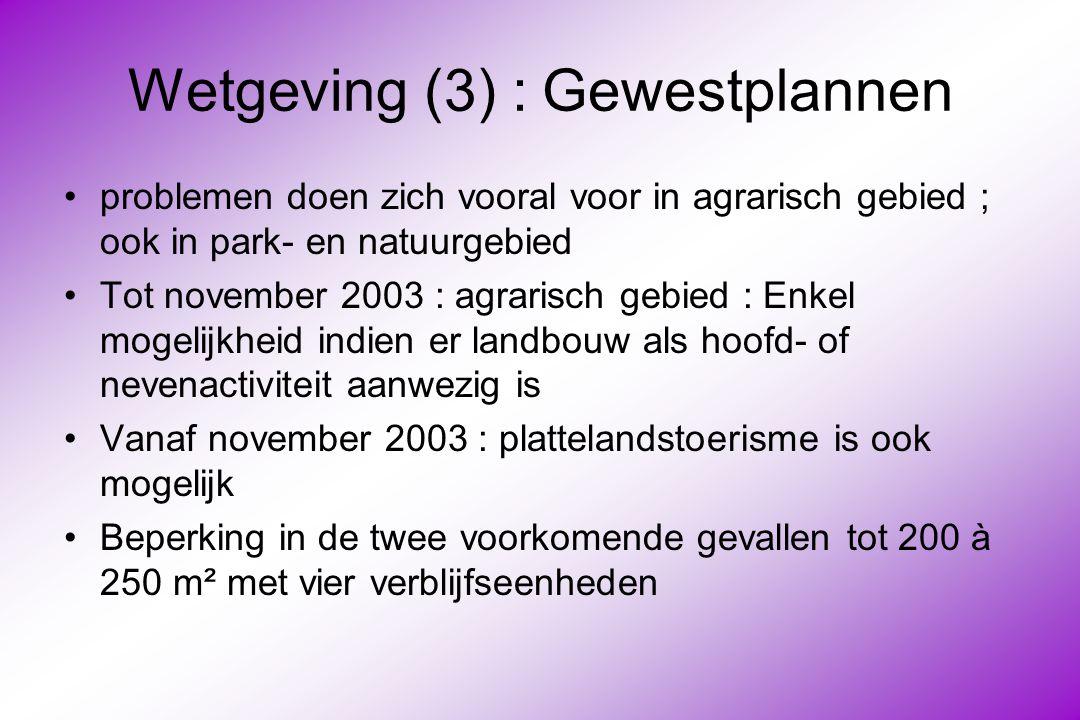 Wetgeving (3) : Gewestplannen