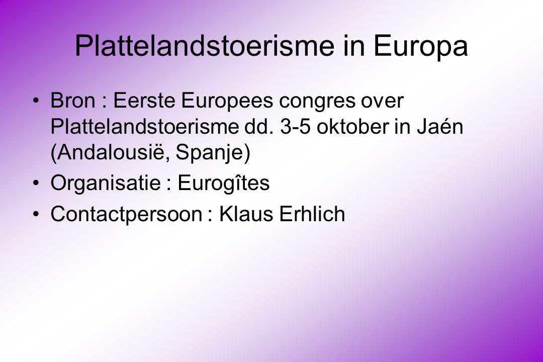 Plattelandstoerisme in Europa