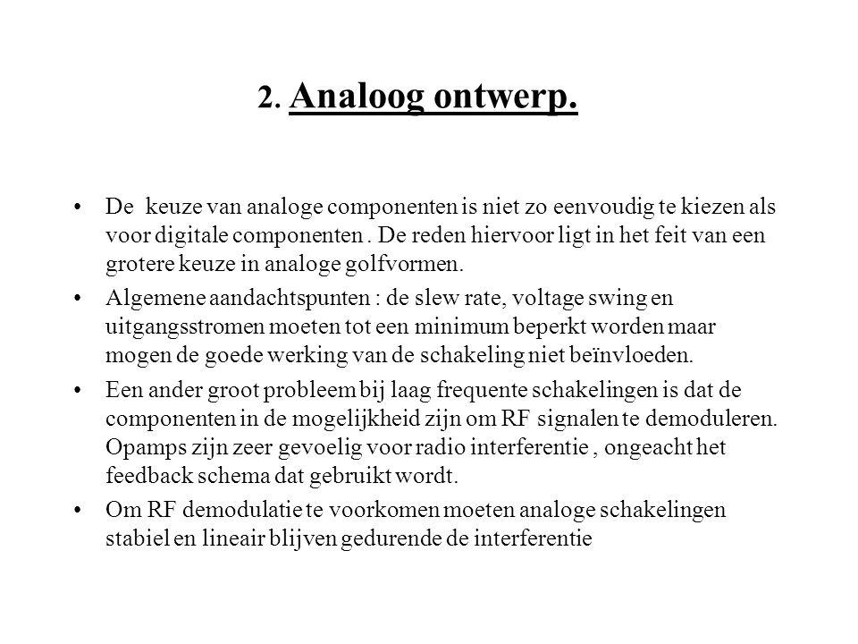 2. Analoog ontwerp.