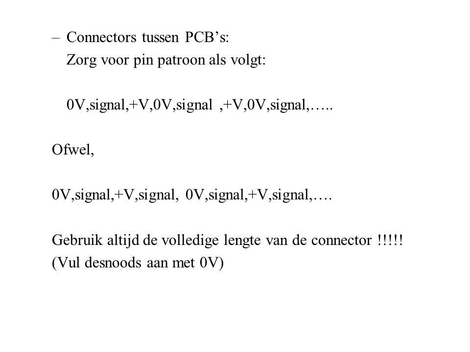 Connectors tussen PCB's: