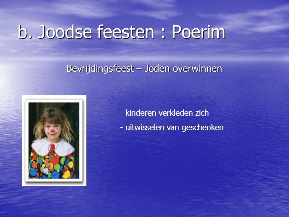b. Joodse feesten : Poerim