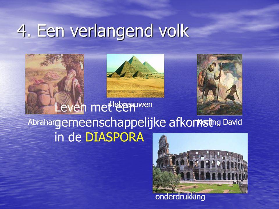 4. Een verlangend volk Leven met een gemeenschappelijke afkomst in de DIASPORA. Hebreeuwen. Abraham.