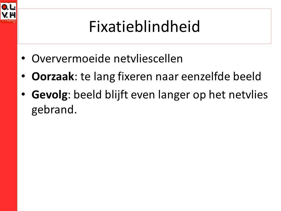 Fixatieblindheid Oververmoeide netvliescellen