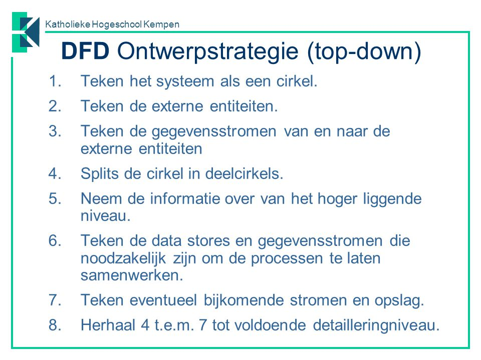 DFD Ontwerpstrategie (top-down)
