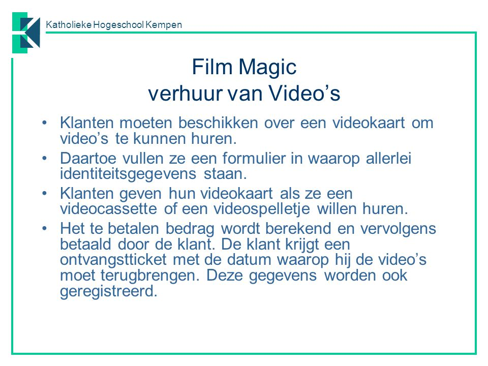 Film Magic verhuur van Video's