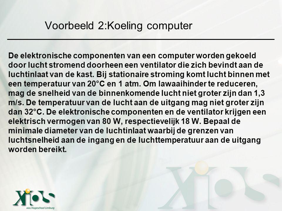 Voorbeeld 2:Koeling computer