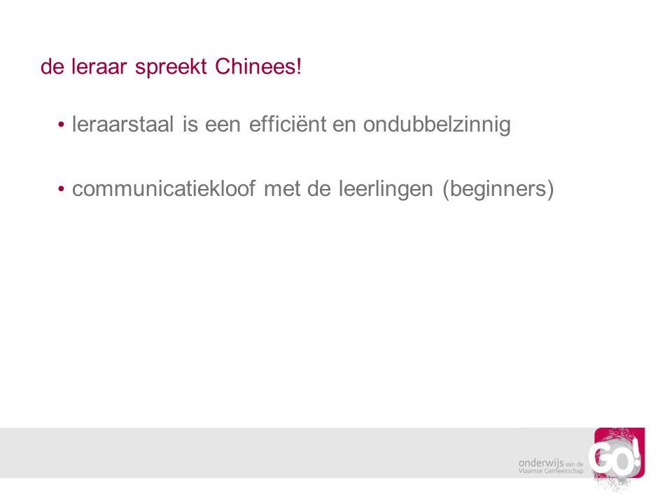 de leraar spreekt Chinees!